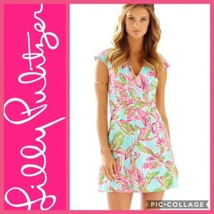 Lilly Pulitzer BRIELLA FIT & FLARE SLEEVE DRESS XL